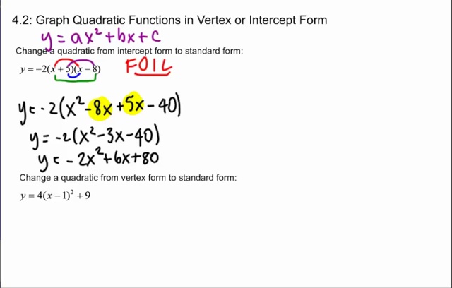 intercept form to standard form quadratic  Lessons - Tes Teach