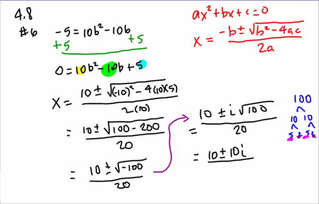 ... Algebra 2 - 4.7-4.8 Problems: Completing the Square and using