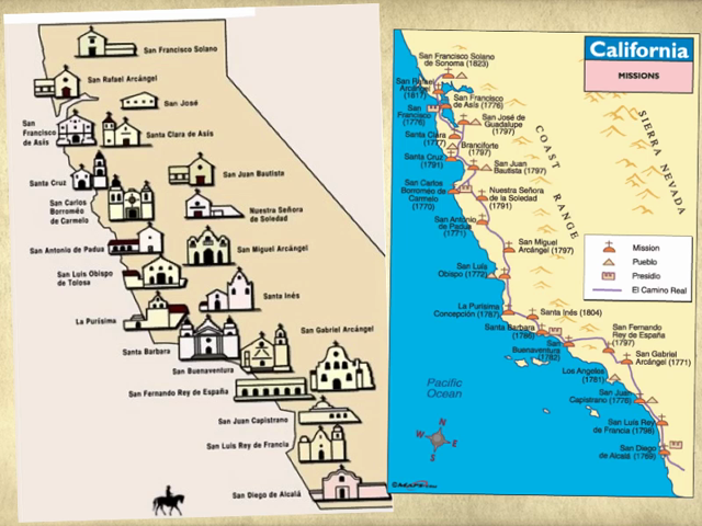 California Missions Lessons Tes Teach - California missions map